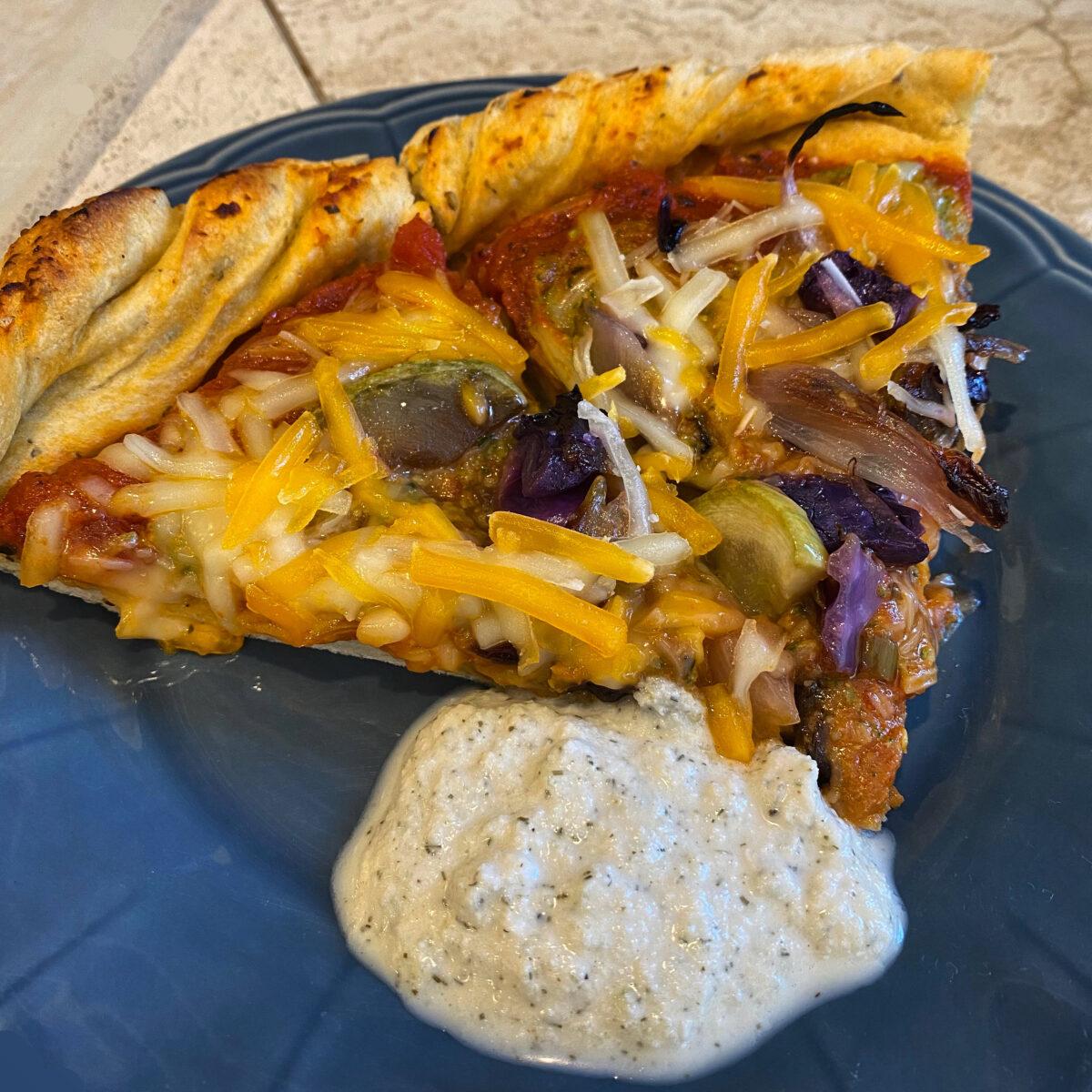 McGeeza's Vegan Pizzas with McGyro's Vegan Tzatziki Sauce